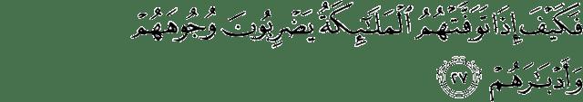 Surat Muhammad ayat 27