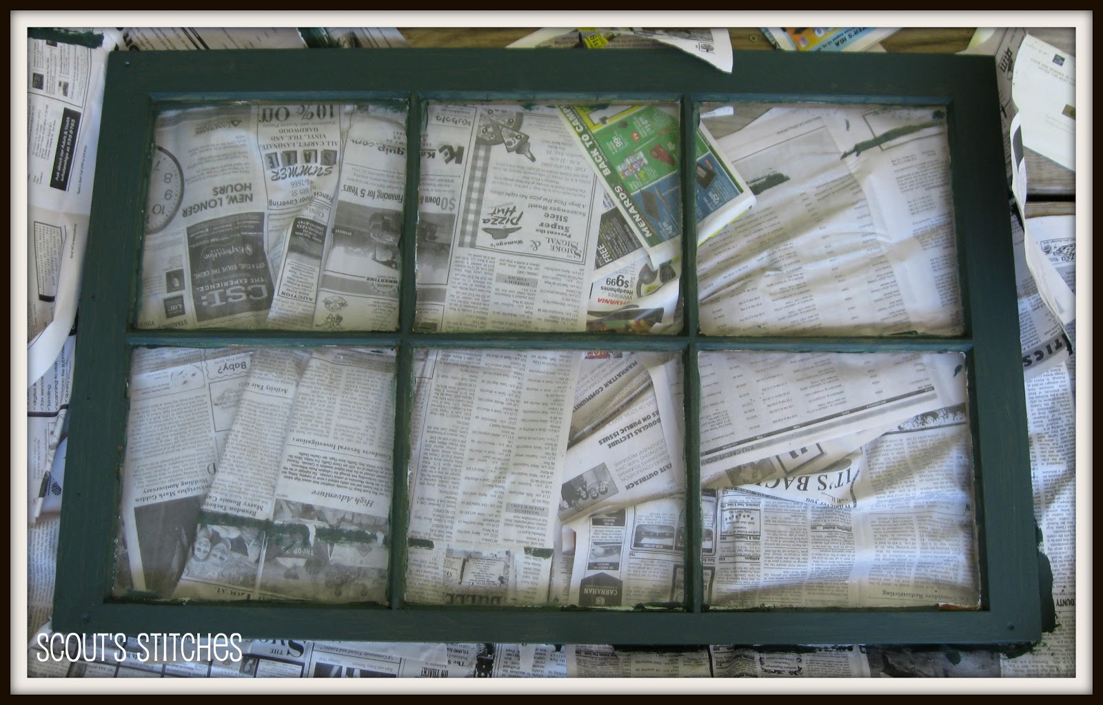 distressed window frame picture frame
