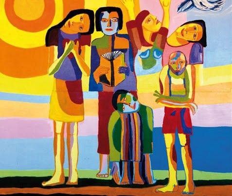 """Cartaz """"Diversidad e Integración. Hacia nuevos modos de ver y ser"""" - Biblioteca Central da Universidade Nacional de Cuyo (Argentina), 2010"""