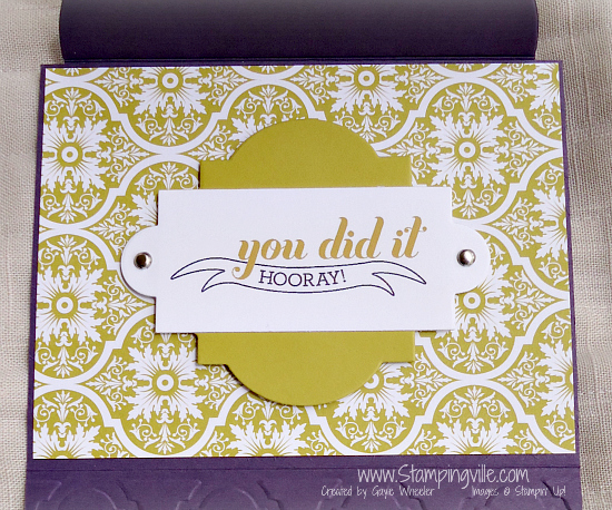 Graduation Gift Card Holder #papercrafts #rubberstamping #handmade #Stampin'Up!