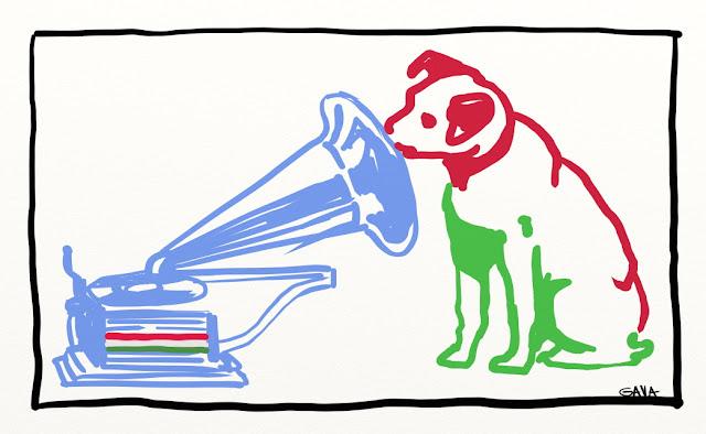 gava gavavenezia vignette illustrazioni satira caricatura pdl pd berlusconi epifani inciucio maggioranza larghe intense vino cane grammofono azzurro biano rosso verde
