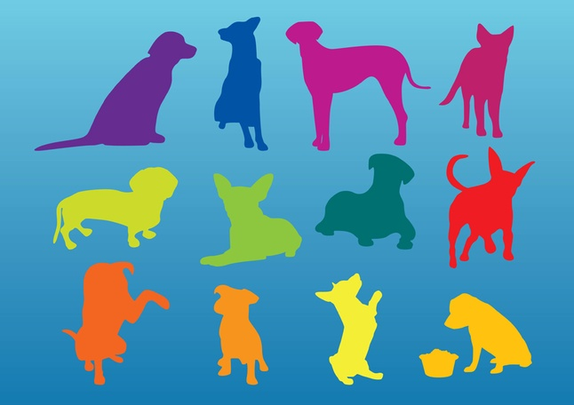 Free Vector Dogs Silhouettes Graphics