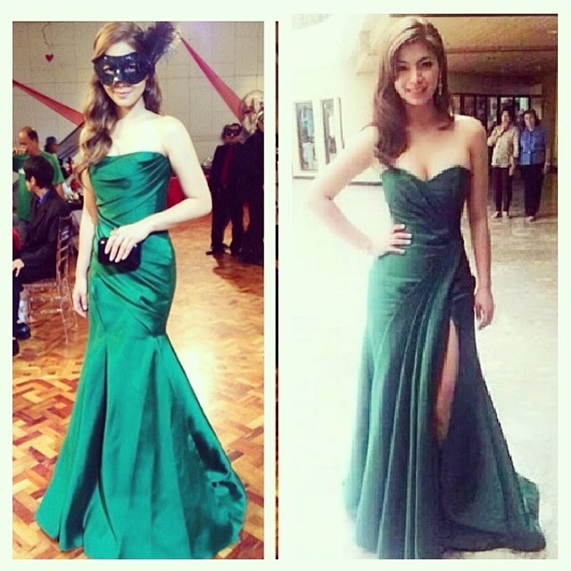 Maja Salvador and Angel Locsin in green gown for The Legal Wife