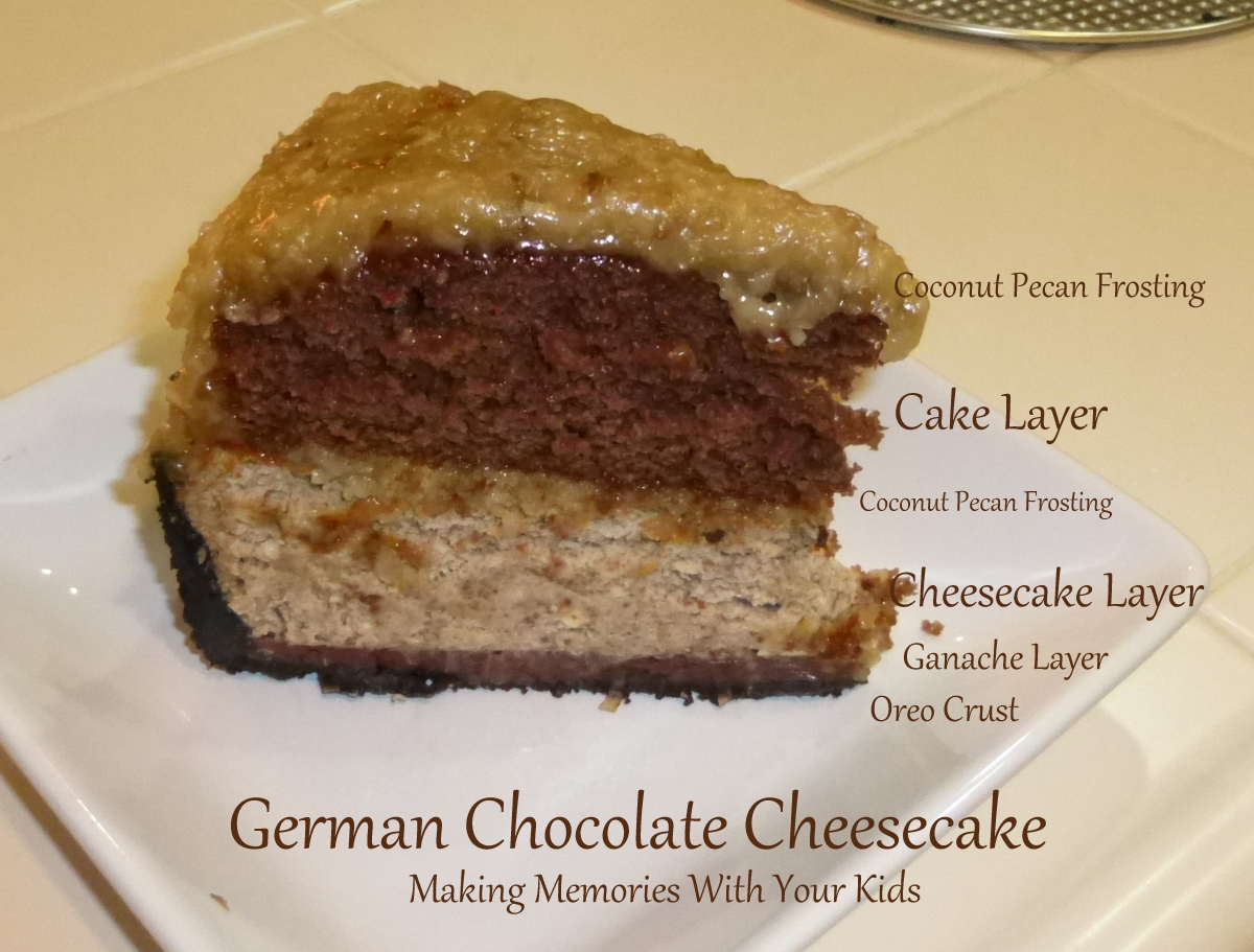 German Chocolate Cheesecake - Making Memories With Your Kids