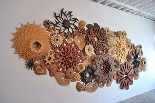 wall decoration furniture made of wood by joshua abarbane