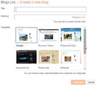 make a blogger blog free