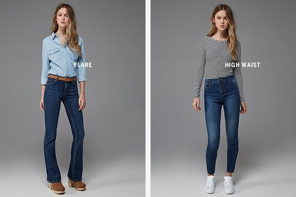Bershka jeans para chicas Flare High Waist