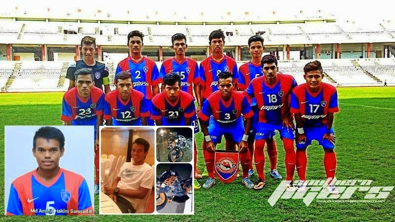 Pemain JDT B 19 Tahun Maut Terlibat Kemalangan