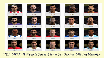 PES 2013 Full Facepack For Season 2016
