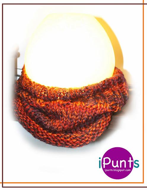 Cuello Wnter de lana. Patrón gratis de iPunts: agujas y ganchillo.