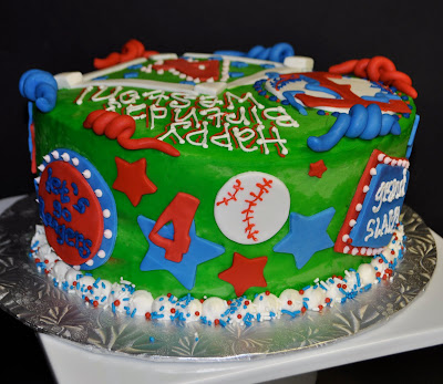 Owner And Cake Artist : Leah s Sweet Treats: Texas Rangers Birthday Cake