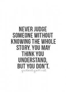 dont judge quote