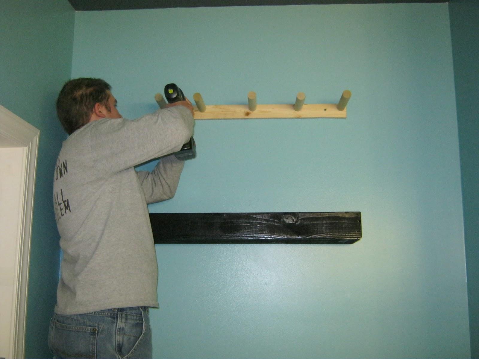 you go! Easy, DIY pallet wood floating shelves. We hung two shelves ...