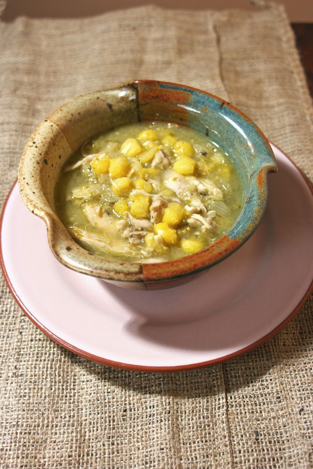 Green Pozole with Chicken- simplelivingeating.com