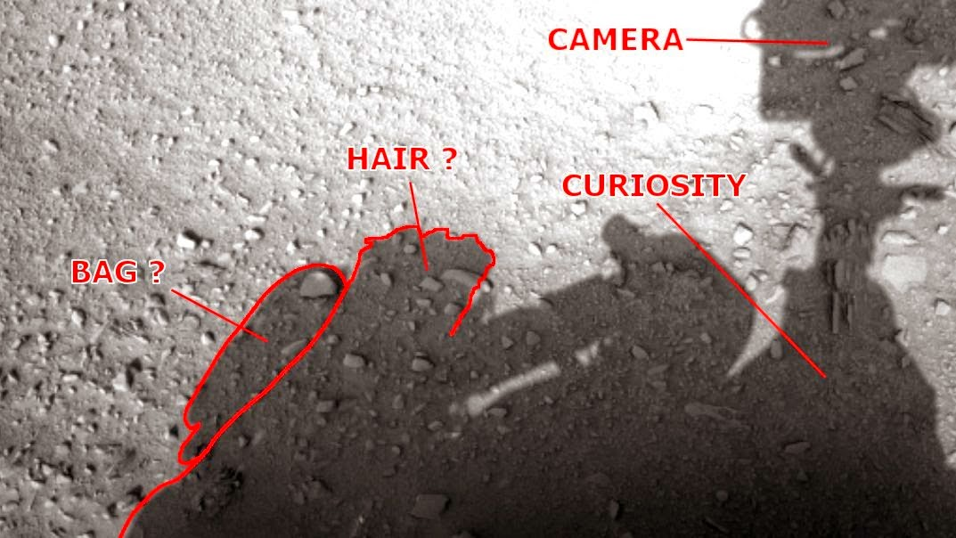 Ombre Humaine Vu Rover sur Mars en photo, la NASA Source!