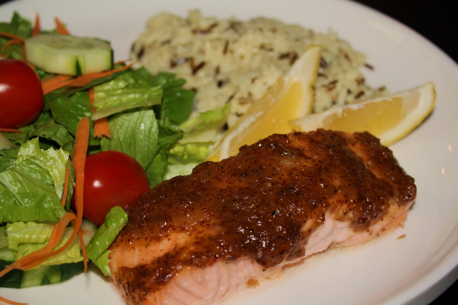 what's for dinner?: salmon with brown sugar and mustard ...