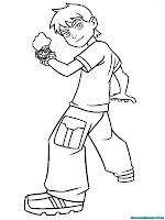 Download Gambar Mewarnai Kartun Ben 10