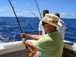 Bill reeling in that Marlin.