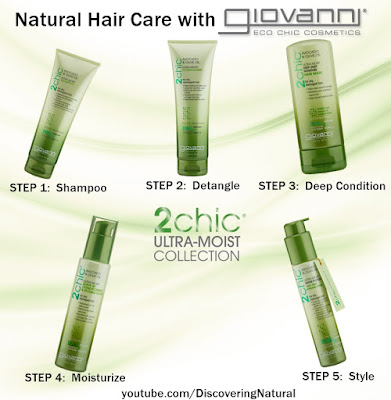 Washing Natural Hair with Giovanni 2chic Ultra-Moist Collection