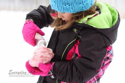 winter activity snow painting