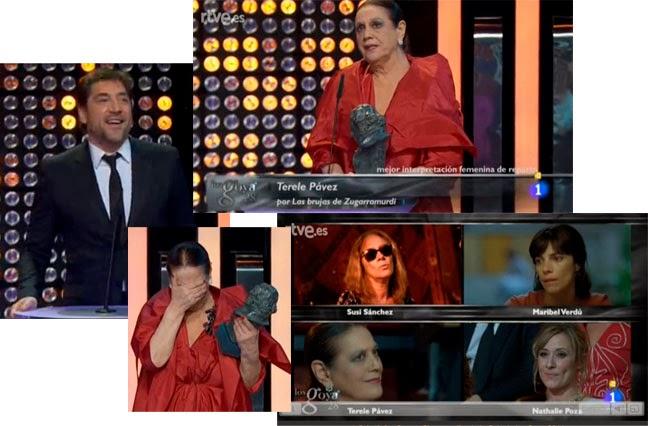 Terele Pávez, mejor actriz secundaria por Las brujas de Zugarramurdi