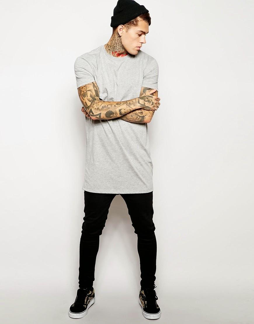 Baú da Moda Masculina: Camisetas mais Compridas, em alta ...