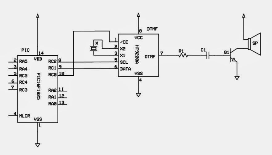 nerd club  telephone dialler  dtmf tone generator using