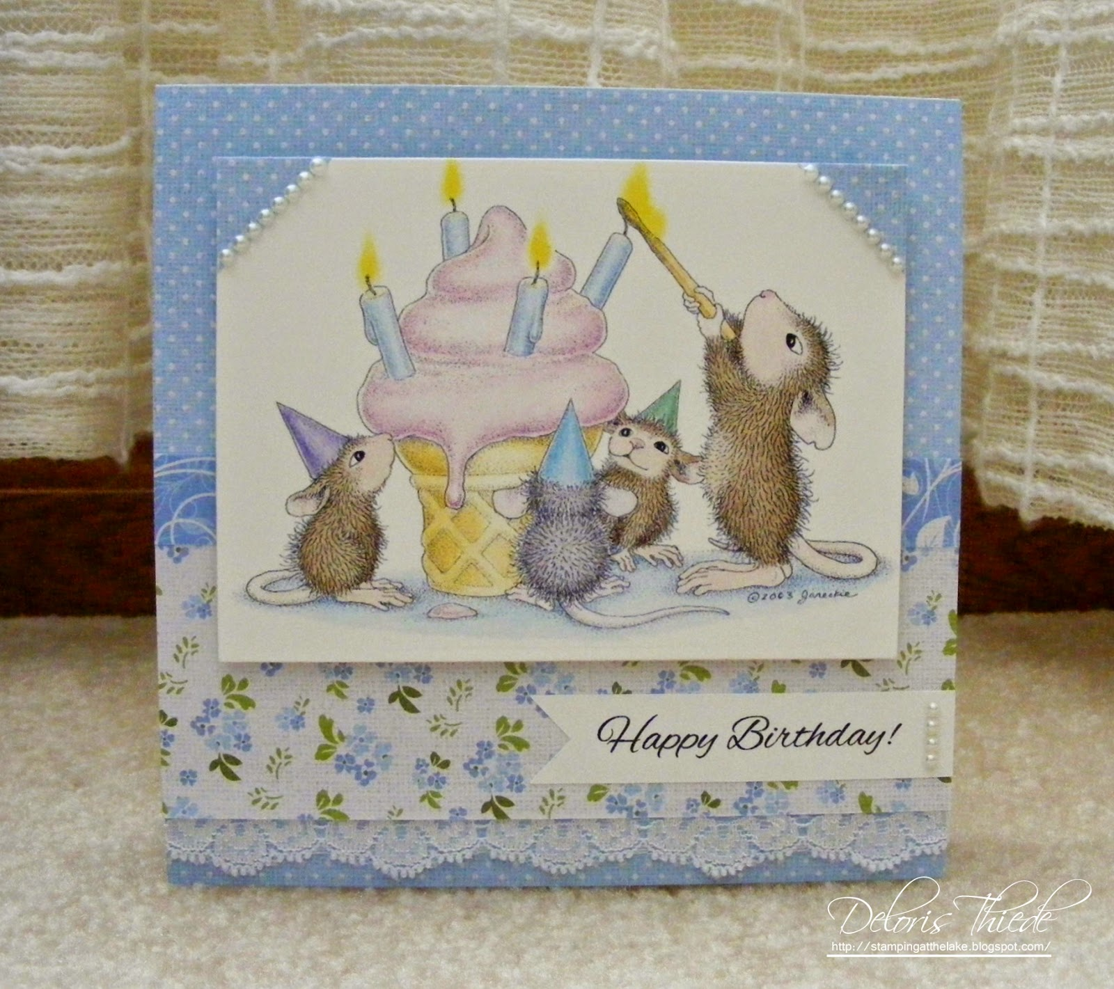 Stamping At The Lake: House Mouse Birthday Card made from ss on house mouse christmas, house mouse design time, house cleaning services business cards,
