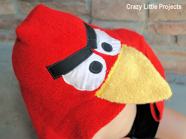 How to Make an Angry Bird Hooded Towel