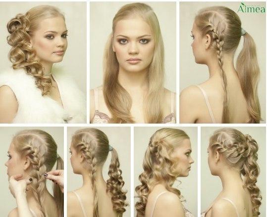 peinado fcil para cabello largo
