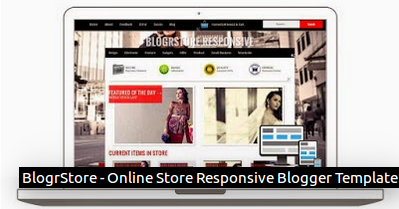 BlogrStore - Online Store Responsive Blogger Template