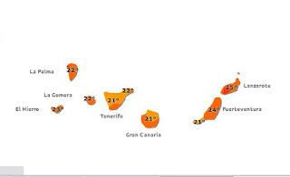 Bajan temperaturas en Canarias, 15 junio