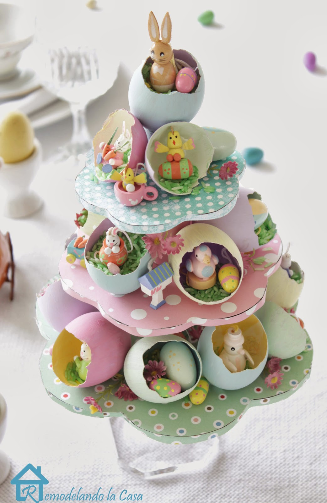 Remodelando la casa easter egg tree centerpiece How to make an easter egg tree