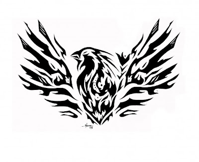 eagle tribal tattoo design