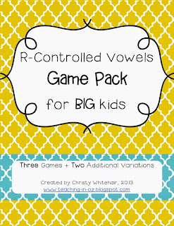 http://www.teacherspayteachers.com/Product/R-Controlled-Vowel-Game-Pack-for-Bigger-Kids-1033299