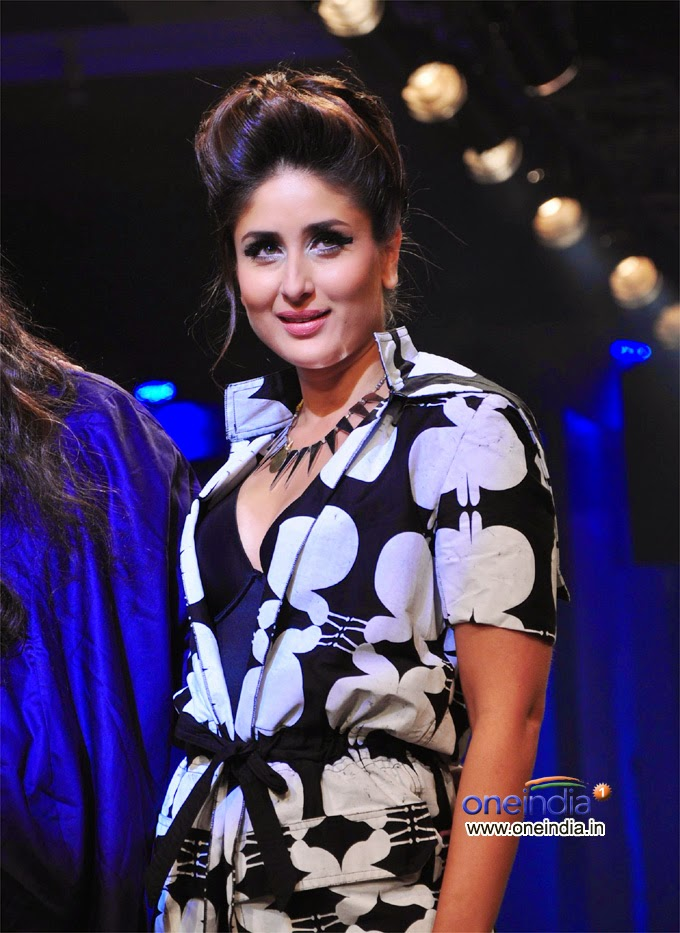 Kareena Kapoor in black and white dress