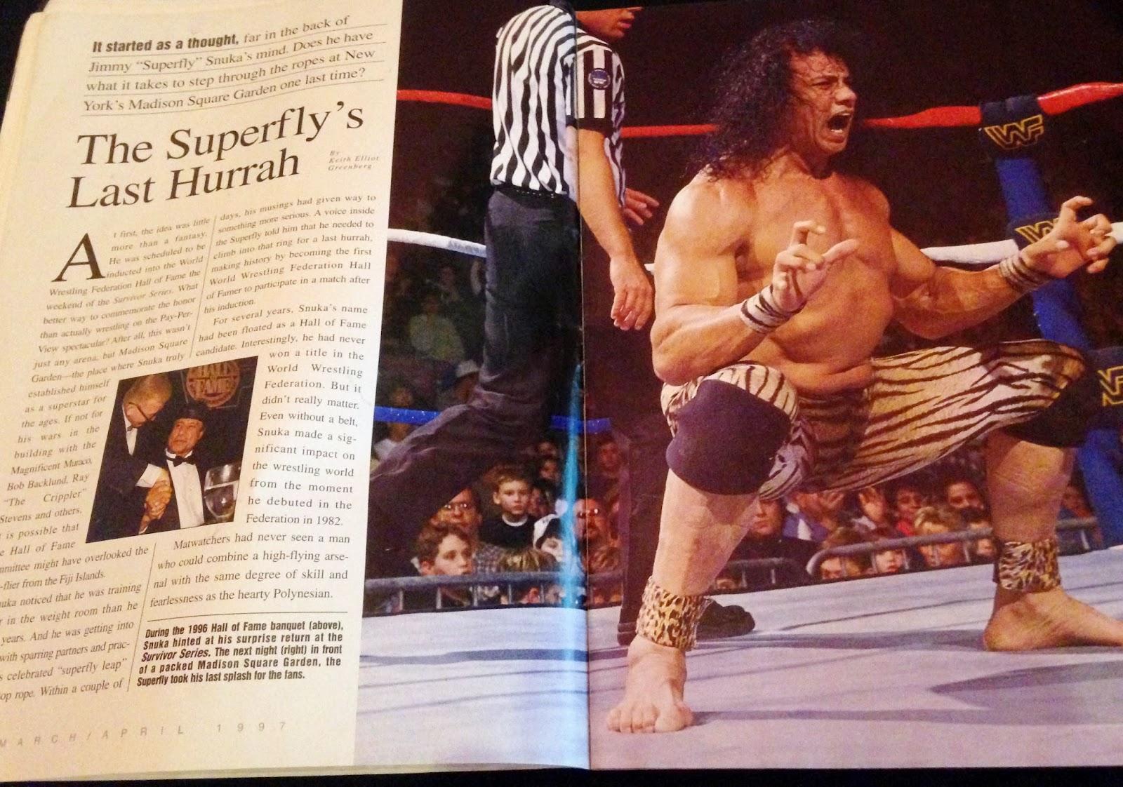 WWE - WWF RAW MAGAZINE 1997: Jimmy Snuka's last hoorah!