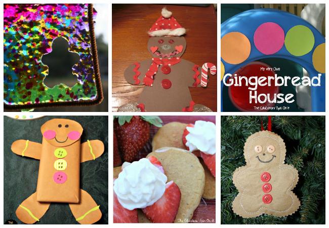 Gingerbread house project kindergarten