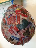 balloon, craft, papier mache
