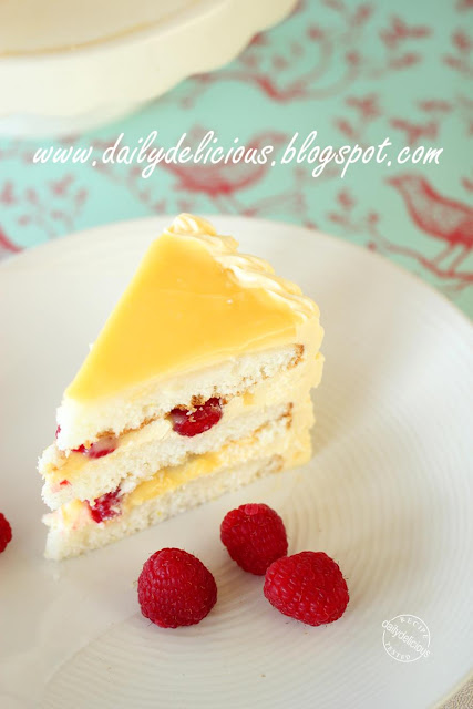 Lemon Birthday Cake With Raspberry Buttercream Recipe — Dishmaps