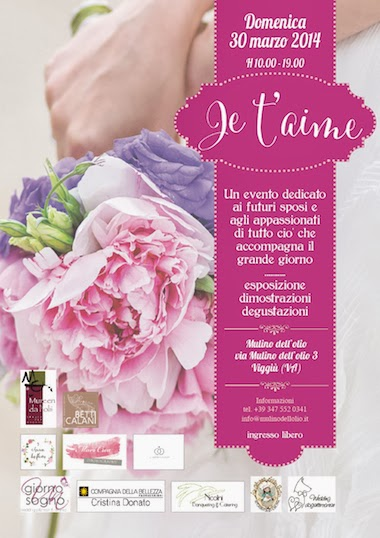 Je t'aime wedding event
