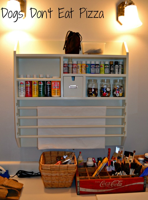 Pottery Barn craft organizer