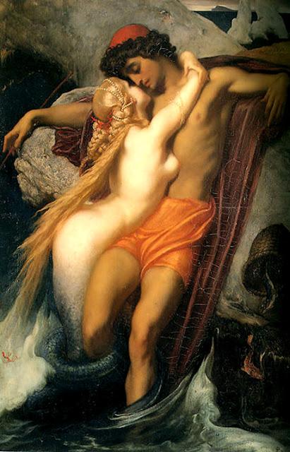 Cuerpos en el tiempo Frederic-leighton-el-pescador-y-la-sirena-oleo-sobre-lienzo-66,3cm-x-48,7cm-coleccion-privada-obras-maestras-de-la-pintura-juan-carlos-boveri