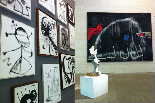 Cuadros y escultura en la Fundacion Pilar y Joan Miro en Mallorca