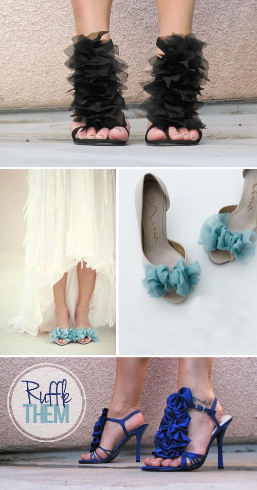 DIY Ruffle Shoes