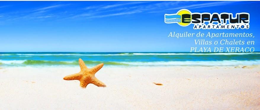 Alquiler Apartamentos en PLAYA DE XERACO, apartamentos alquiler playa xeraco, vacaciones