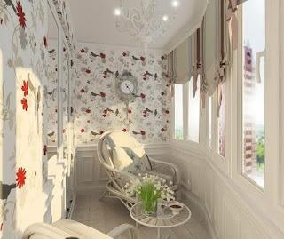 """Оформление балкона после перепланировки в белых тонах"""" - кар."""