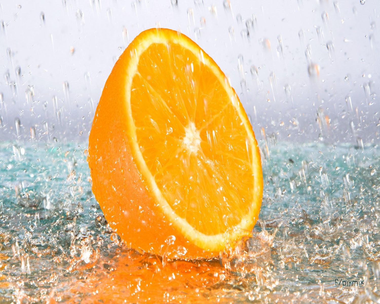 Media Naranja ⌇  Fondo de pantalla ⌇ Agua,
