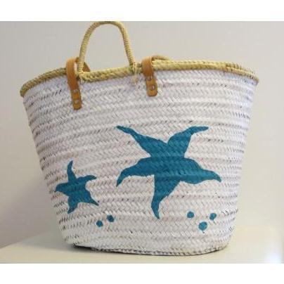 Popurri regalos decoraci n complementos cestas pintadas - Cestos de palma ...