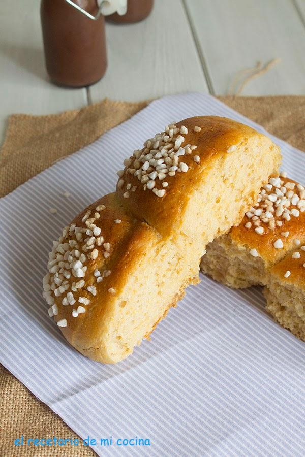 brioche de semola de maiz y comino con Tang zhong